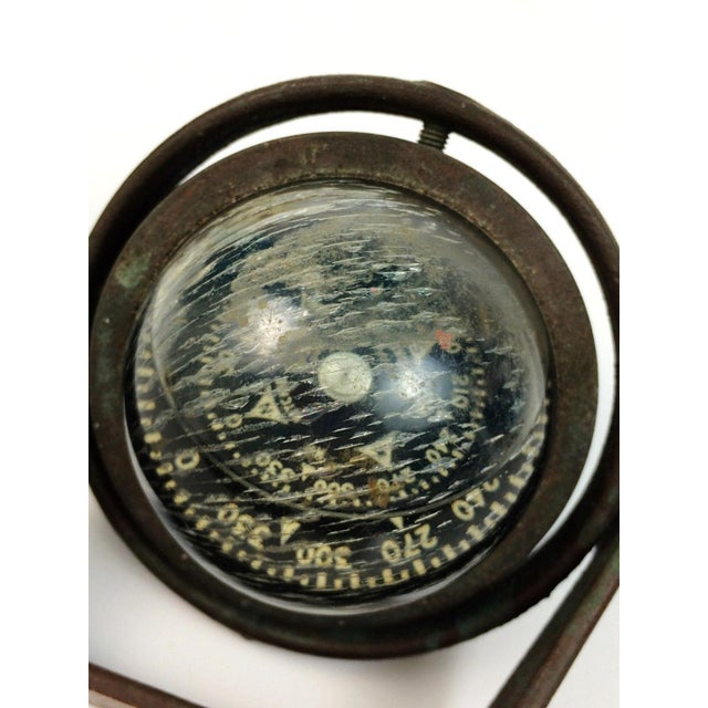 Cottage Brass Ritchie Marine Wall Mount Compass For Sale - Image 3 of 5