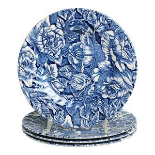 Churchill Bermuda Blue Salad Plate Set/4 For Sale