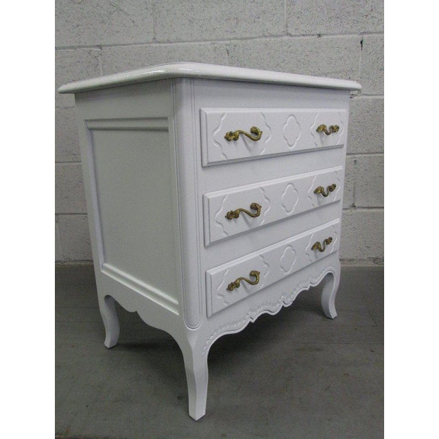 Pair French Style Nightstands Chests - Image 2 of 6