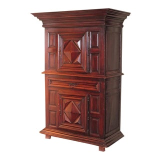 "Mid-18th Century French Louis XIII Walnut ""Homme-Debout"" Cabinet"
