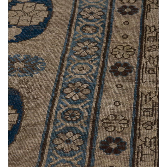 MANSOUR Traditional Antique Handwoven Wool Persian Khotan Runner For Sale - Image 4 of 6