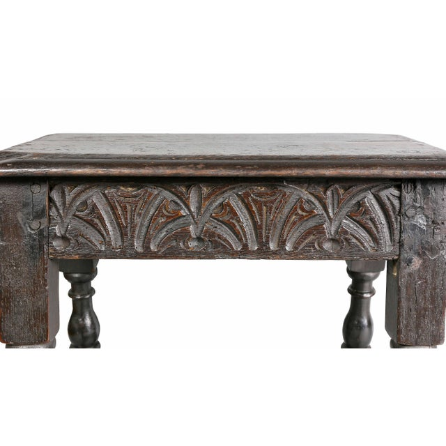 Jacobean Oak Joint Stool For Sale - Image 4 of 10