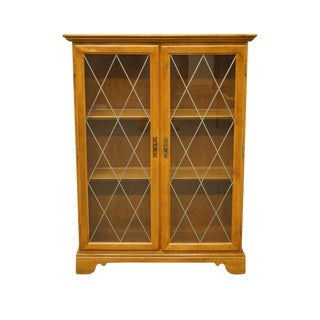 Ethan Allen Heirloom Nutmeg Maple Accent Enclosed Cabinet For Sale