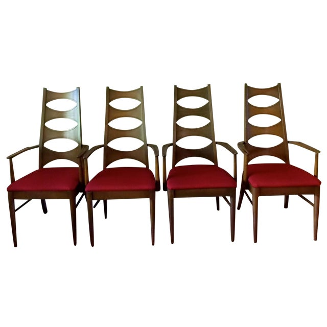 Kent Coffey Cat-Eye Dining Chairs - Set of 4 - Image 1 of 10