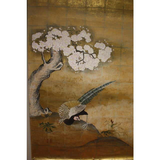 Gold Gold Leaf Mural Wallcovering Panel For Sale - Image 8 of 9