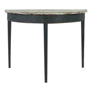 19th Century Swedish Demilune Table For Sale