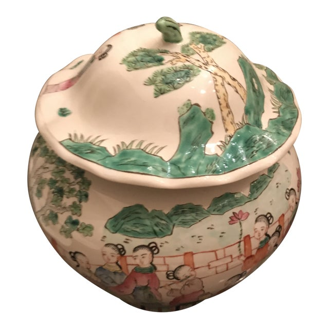 Mid 19th Century Chinese Famillie Ginger Jar For Sale