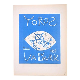 Vintage Mid Century Color Lithograph-Picasso-Printed By Mourlot