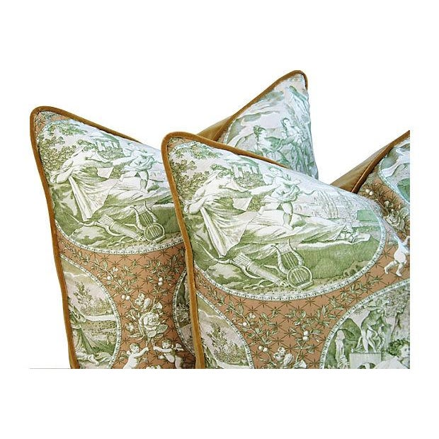 Custom Scalamandre Cupido Toile Pillows - A Pair - Image 5 of 6