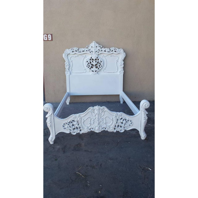 French Louis XV Style Bed Frame - Image 2 of 8