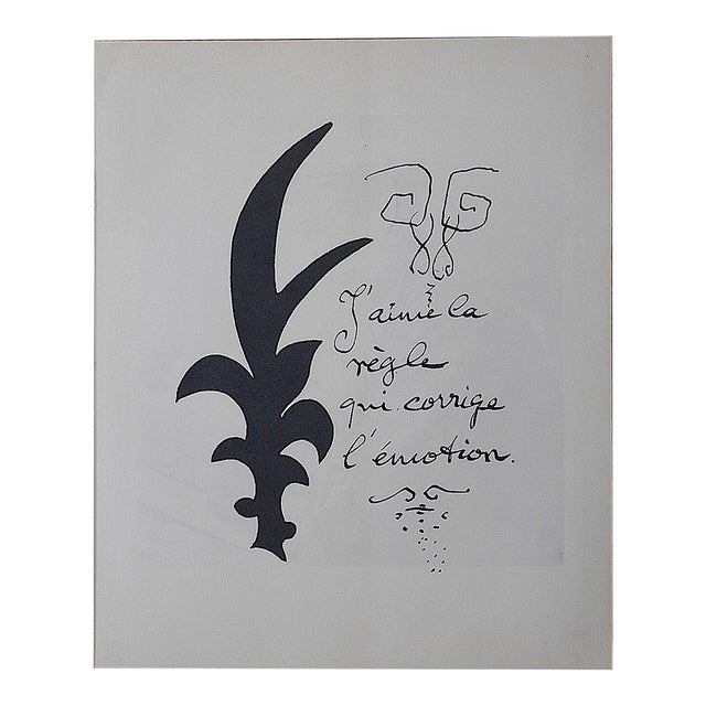 Vintage Lithograph by Georges Braque - Image 1 of 3