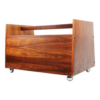 Rolf Hesland for Bruksbo Rosewood Magazine or Record Cart