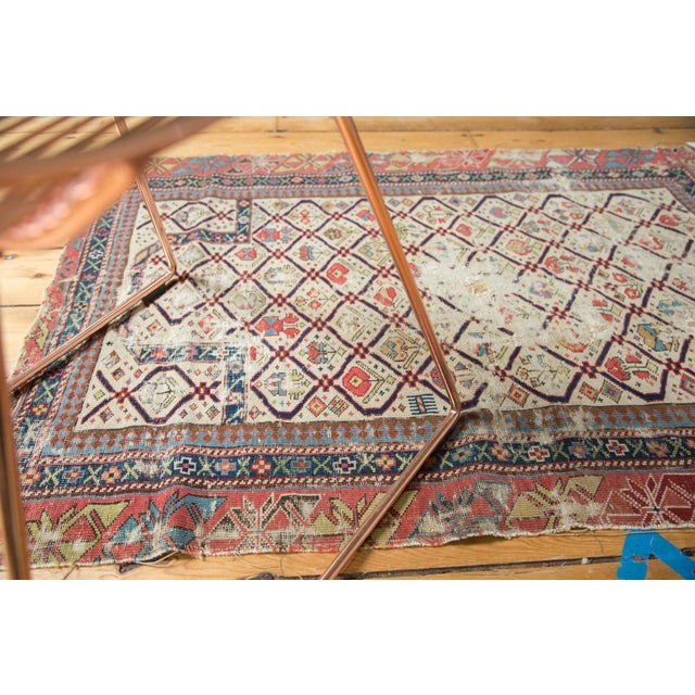 "Antique Fragmented Caucasian Prayer Square Rug - 2'10"" x 3'11"" For Sale - Image 10 of 10"