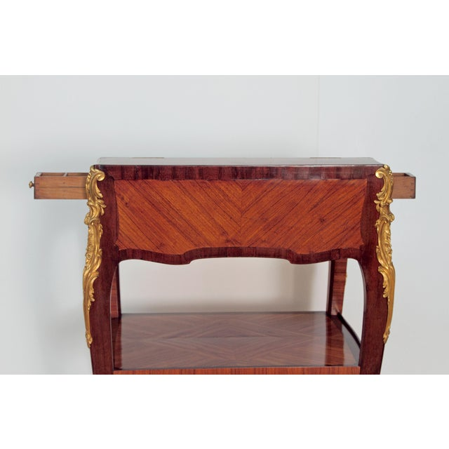 Louis XV Style Small Writing Desk / Table by Alfred Emmanuel Louis Beurdley - Image 8 of 11