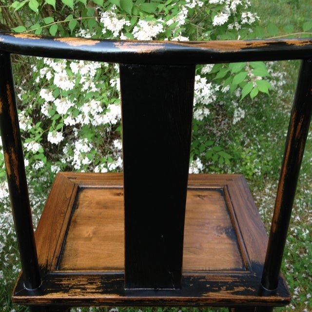 1830s Antique Qing Dynasty Teak Camphor Wood Side Chair For Sale - Image 4 of 13
