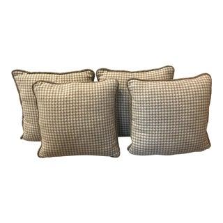 Robert Allen Houndstooth Pillows - Set of 4 For Sale