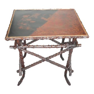19th Century English Japanned Side Table For Sale