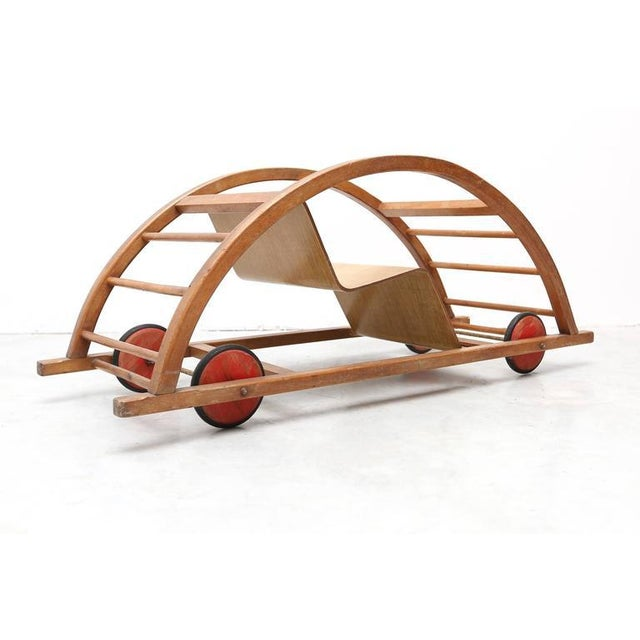 Mid-Century Modern Schaukelwagen Swing and Race Car Toy For Sale - Image 3 of 7