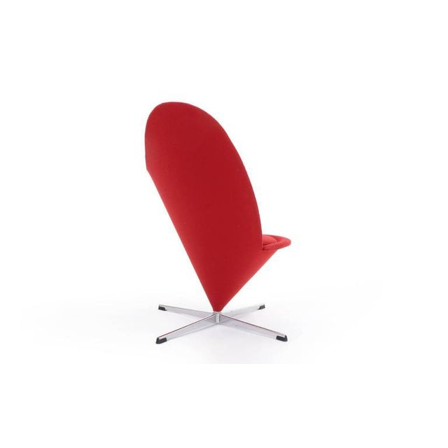 Mid-Century Modern Original Verner Panton Cone Heart Chair for Plus-Linje For Sale - Image 3 of 9