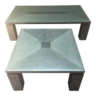 Post Modern Memphis Style Roche Bobois Coffee Table & Side Table - 2 Pieces For Sale