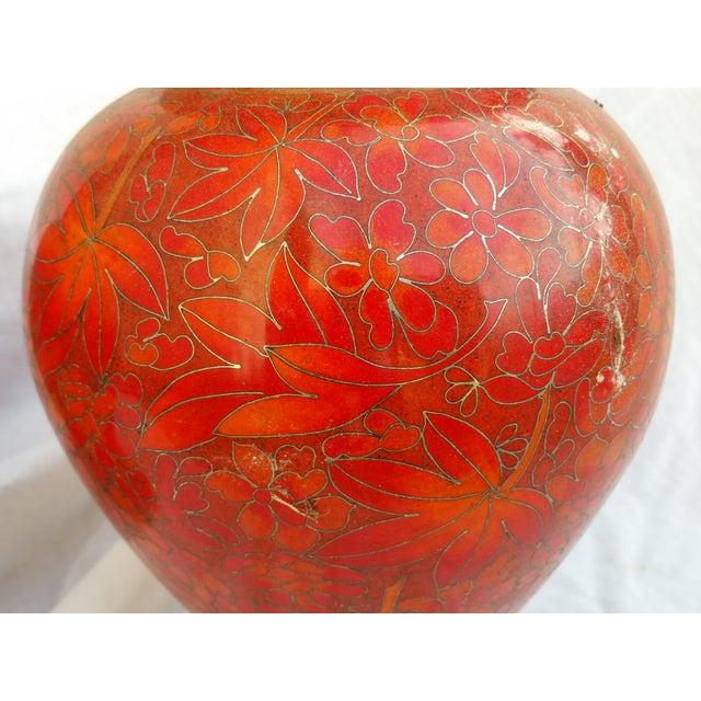 Vintage Cloisonne Vase - Pair - Image 3 of 5