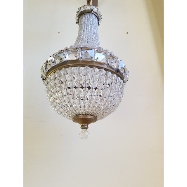Empire Antique French Empire Style Crystal Chandelier For Sale - Image 3 of 10