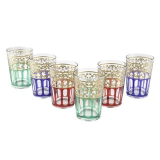 Moorish Design Tea Glasses - Set of 6 For Sale