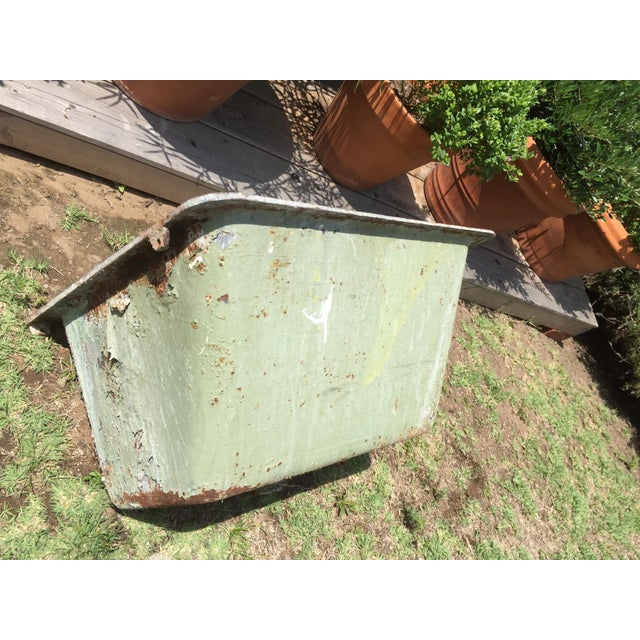 Cast Iron Antique Salvage Utility Sink For Sale - Image 4 of 11