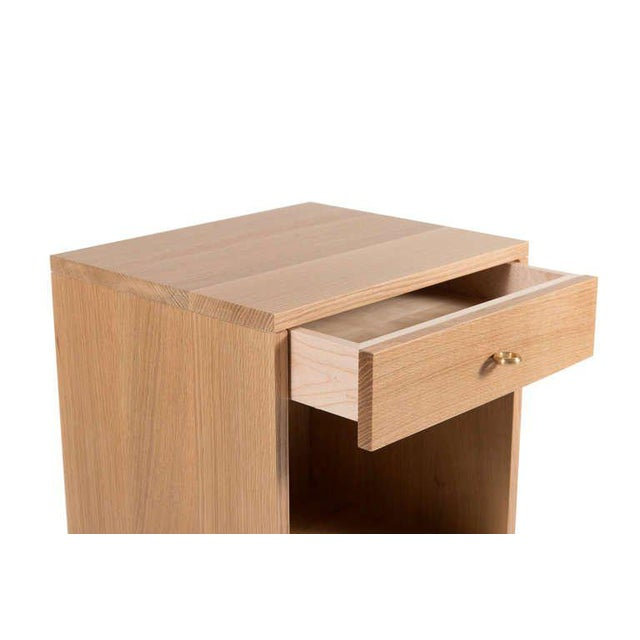 Modern Popp Oak Nightstands - a Pair For Sale - Image 3 of 4