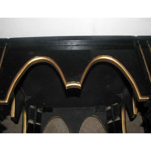 Ebonized Gothic Style End Table For Sale - Image 9 of 10