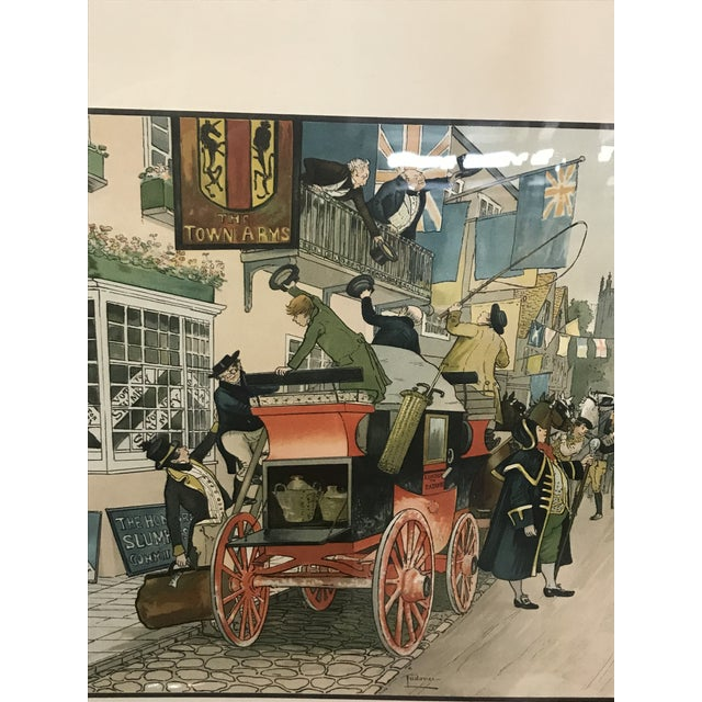 Vintage Mid-Century British Election Day Lithograph Print For Sale - Image 4 of 8