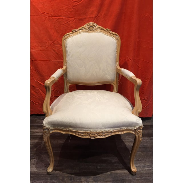 Louis XV Style Oak Wood Chairs - A Pair - Image 4 of 5