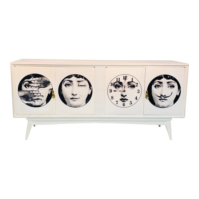 20th C. Italian Commode Cabinet in the Manner of Piero Fornasetti For Sale