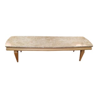 Mid Century Marble Top Coffee Table