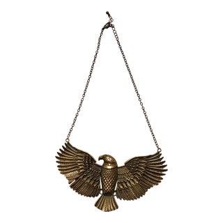 Vintage Brass Eagle Jointed Hanging Trinket For Sale