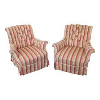 19th Century French Pair of Large Armchairs
