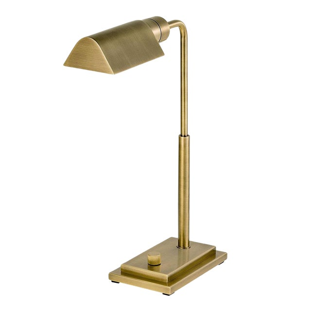 Townhouse English Brass Desk Light For Sale