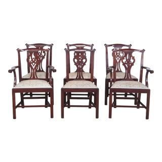 Revised Henkel Harris Model #101 Mahogany Dining Room Chairs - Set of 4 Side Chairs Only