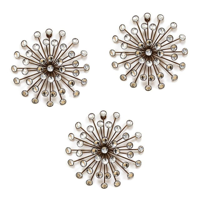 Gold Burst Wall Décor - Set of 3 - Image 1 of 2