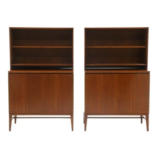 Pair of Paul McCobb Storage Cabinets for Use With or Without the Top Section For Sale