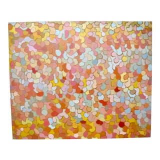 Patricia Sloane Mid-Century New York Abstract Expressionist Geometric Oil Painting For Sale