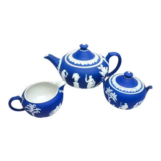 Wedgwood Jasparware Tea Set - 3 Pc.