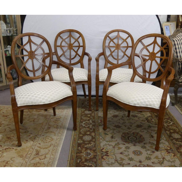 Century Furniture Spider Web Back Style Dining Armchairs- Set of 4 For Sale - Image 13 of 13