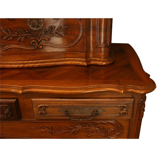 Wood Vintage French Country Walnut Sideboard For Sale - Image 7 of 8