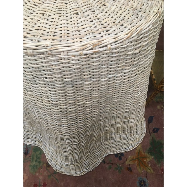 Vintage Draped Wicker Center Table For Sale - Image 9 of 11