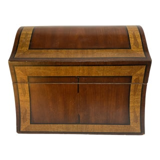 Maitland-Smith Inlaid Mahogany Box For Sale