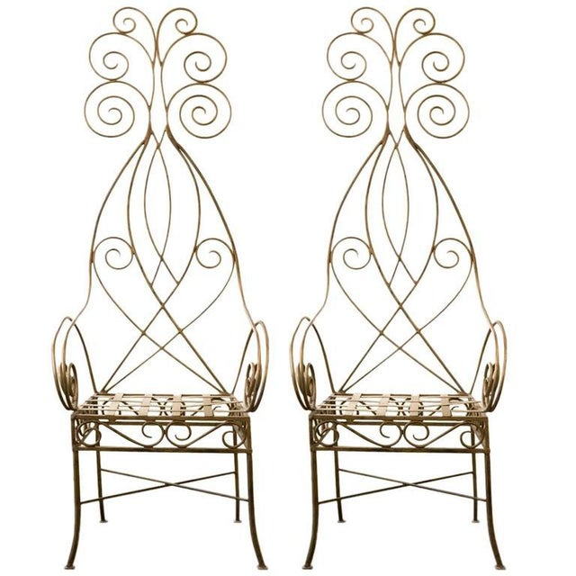 Pair of French Metal Fantasy Chairs - Image 4 of 4
