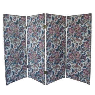 Floral Folding Screen For Sale