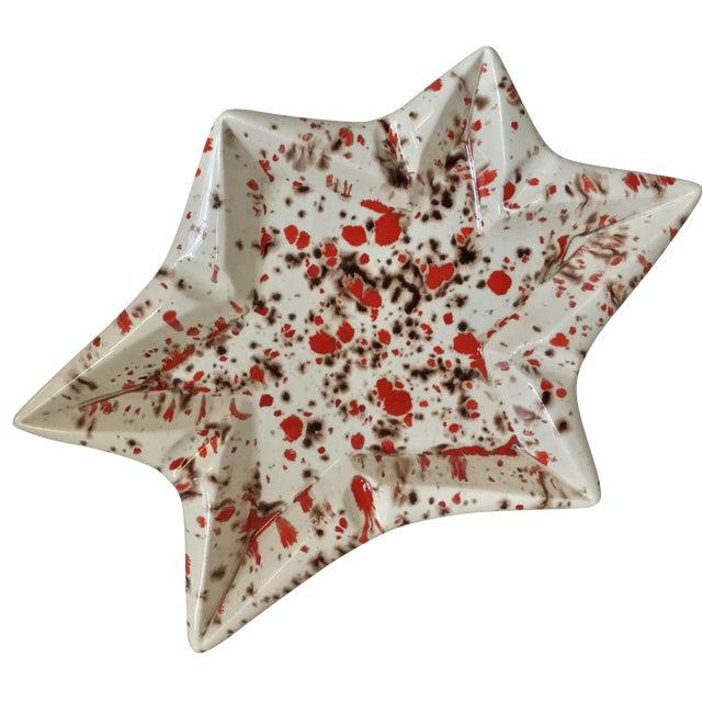 Mid-Century Ceramic Star Ashtray - Image 1 of 7