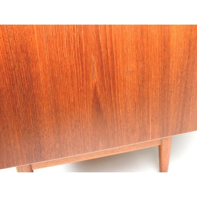 Brown 1950s Danish Modern Arne Vodder for Sibast Teak Sideboard Hutch For Sale - Image 8 of 13